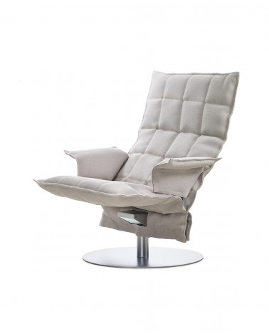 sand - stone white - 46009 swivel k chair with armrests