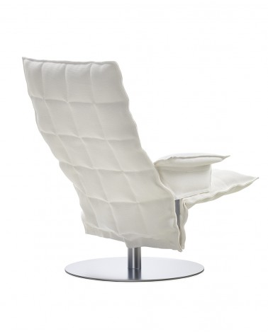 sand - white - 46009 swivel k chair with armrests