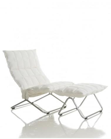 sand - white - 46011 wide k ottoman tubular / 46001 wide k chair tubular