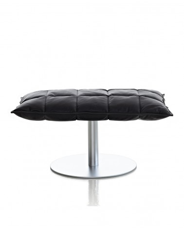 leather - black - 46015M wide k ottoman plate