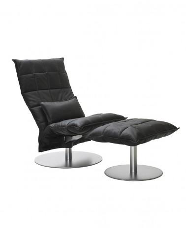 leather - black - 46015M wide k ottoman plate / 46007M narrow swivel k chair