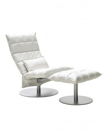piel - white - 46017M narrow k ottoman / 4600M narrow swivel k chair