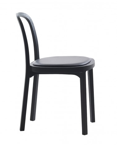 4410 Siro + Chair wood black upholstered