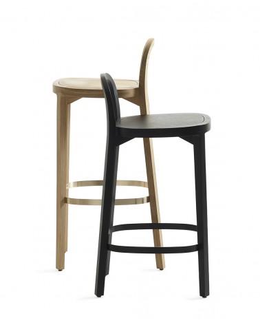 Siro+ Bar Stool - Oak 75 / Siro+ Bar Stool - Oak black 65