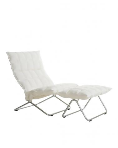 46003 - narrow k chair / 46013 - narrow k ottoman / tubular feet / sand white