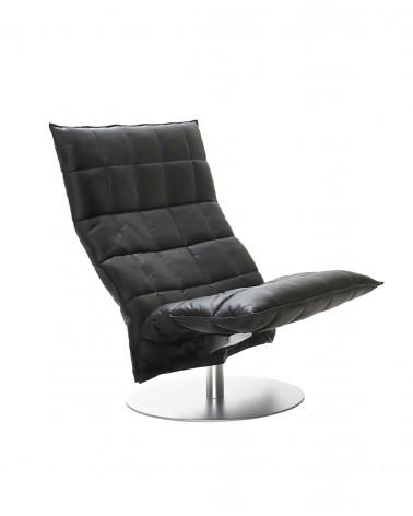 leather - black - 46005 wide swivel k chair