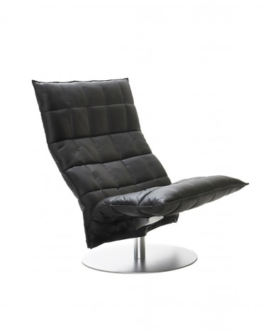 piel - black - 46005 wide swivel k chair