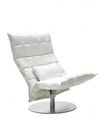 leather - white - 46005 wide swivel k chair / 4605 k cushion