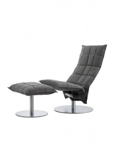das - grey - 46007 narrow swivel k chair / 46017 narrow k ottoman plate