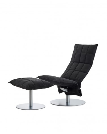das - black - 46007 narrow swivel k chair / 46017 narrow k ottoman plate