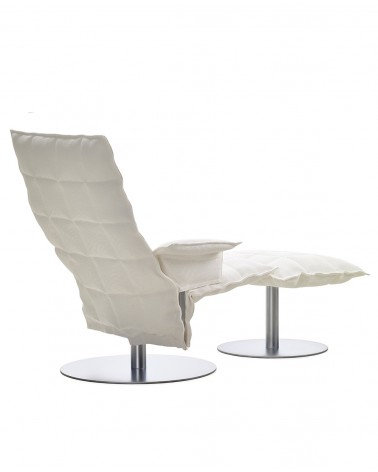 sand - white - 46009 swivel k chair with armrests / 46017 k ottoman plate