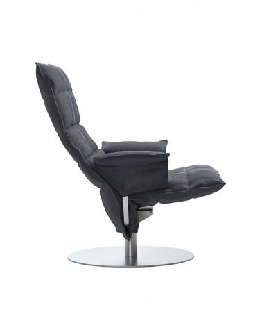 sand - graphite - 46009 swivel k chair with armrests