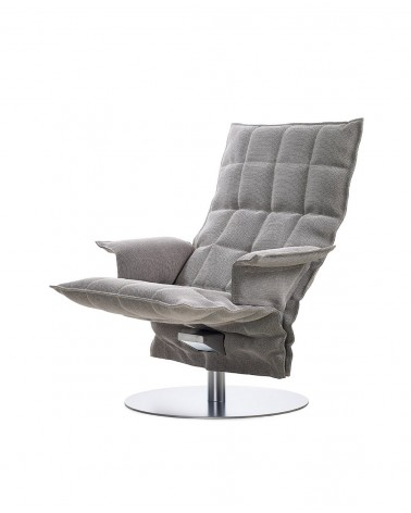 sand - stone black - 46009 swivel k chair with armrests