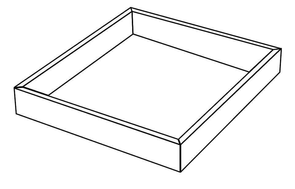 marco de cama 4 lados