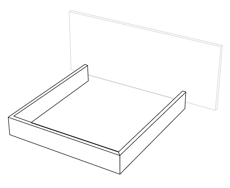 marco cama tres lados